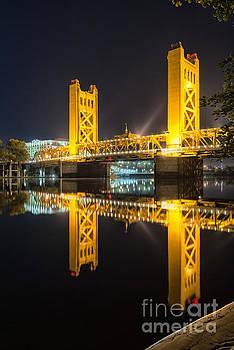 Sacramento Tower bridge nightscape  by Mark Chandler
