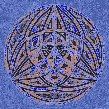 Sacred Geometry Neon Blue by Joy McKenzie