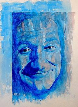 Sad Clown - Robin Williams by William Walts