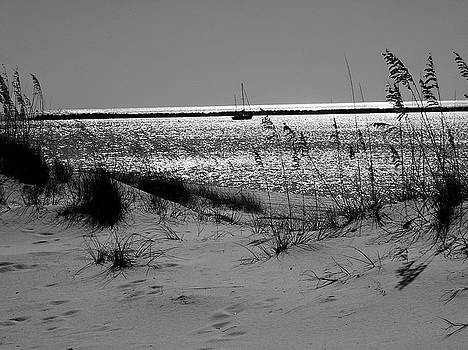 Sailboat Between Sand Dunes by Floyd Smith