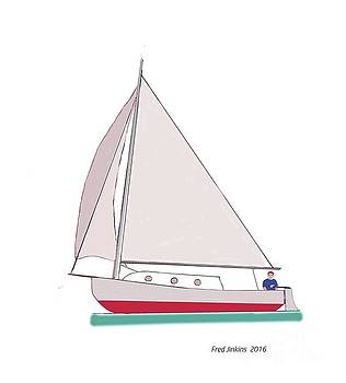 Sailboat Happy Sailor by Fred Jinkins