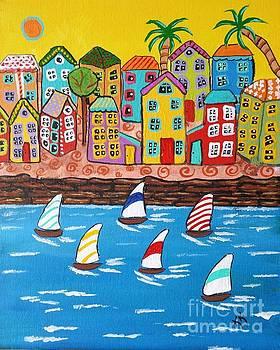 Sailboat Race by Karleen Kareem