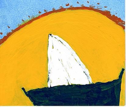 Sailboat Sunset 3 by Rosemary Mazzulla