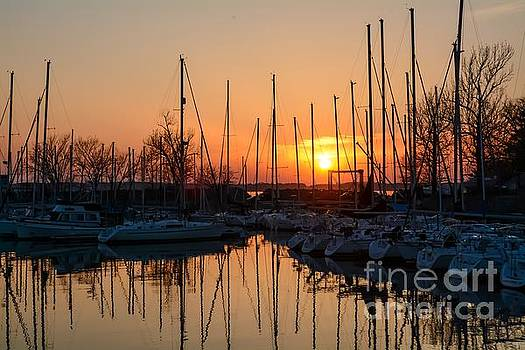 Sailboat Sunset by Debbie Green