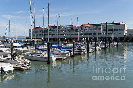Wingsdomain Art and Photography - Sailboats At Fort Mason Gashouse Cove East Harbor San Francisco California DSC3134