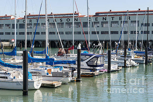 Wingsdomain Art and Photography - Sailboats At Fort Mason Gashouse Cove East Harbor San Francisco California DSC3135