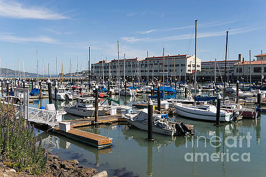 Wingsdomain Art and Photography - Sailboats At Fort Mason Gashouse Cove East Harbor San Francisco California DSC3137