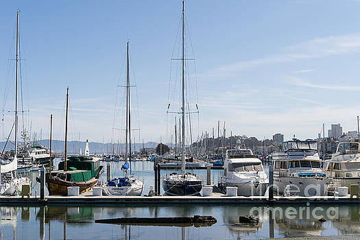 Wingsdomain Art and Photography - Sailboats At St Francis Yacht Club Harbor San Francisco California DSC3094