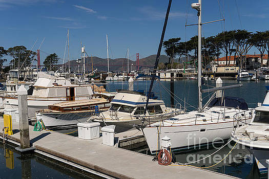 Wingsdomain Art and Photography - Sailboats At St Francis Yacht Club Harbor San Francisco California DSC3102