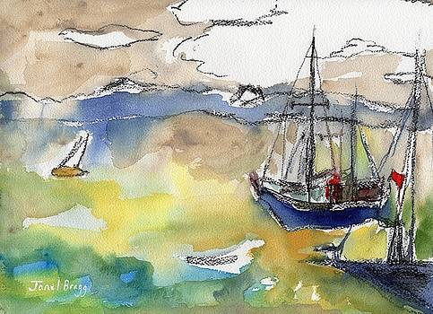 Sailboats in Port Townsend Bay by Janel Bragg