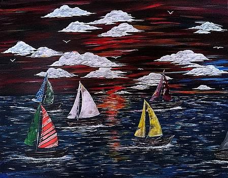 Sailing away by Nicole Champion