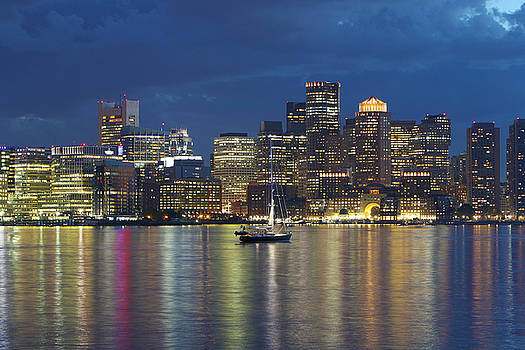 Sailing Boston Harbor by David Yunker