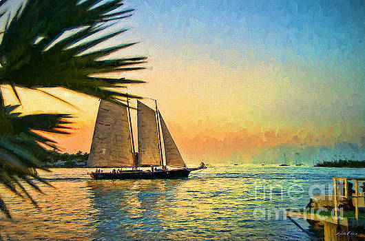 Sailing by Dock by Linda Olsen