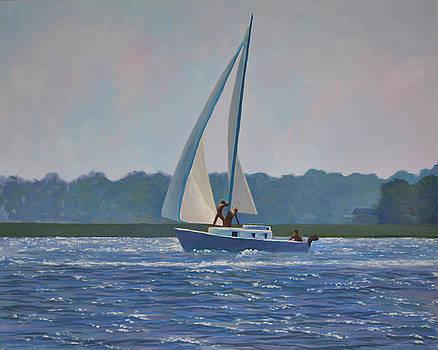 Sailing in Charleston Harbor by Darla Brock