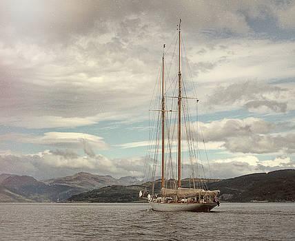 Sailing on Loch Long Scotland by Lynn Bolt