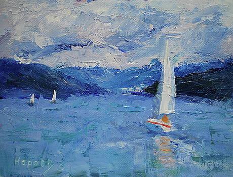Sailing on the Hardanger Fjord by Carol Hopper