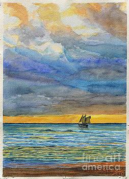 Sails at Sunset by Jim Krug