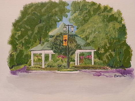Saint Clairsville National Road Bikeway Gazebo by David Bartsch