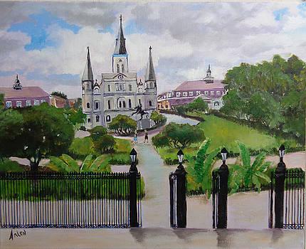 Saint Louis Cathedral by Arlen Avernian Thorensen