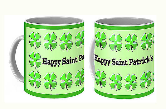 Saint Patrick's Day Mug by Debbie Chamberlin