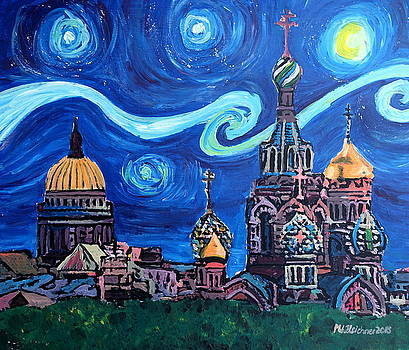 Saint Petersburg with golden couples by M Bleichner