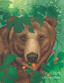 Salmonberry Bear by Tracy Herrmann