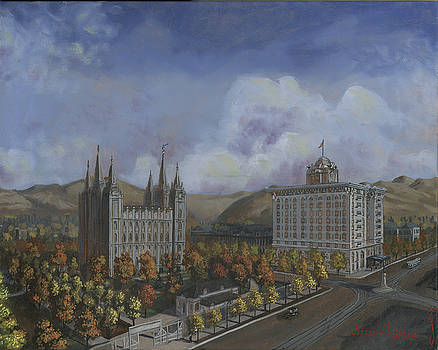Jeff Brimley - Salt Lake City Temple Square Nineteen Twelve Right Panel