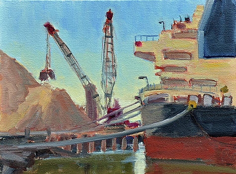 Salt Piles by Mary Byrom