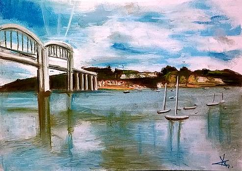 Saltash view by Agnes V