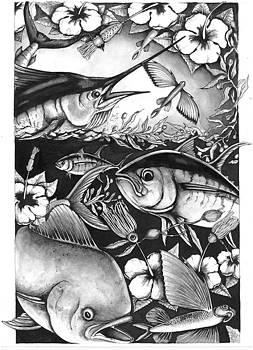 Saltwater Collage by Jacqueline Endlich