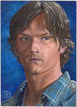 Sam Winchester Sketch Card by Daniel Bergren
