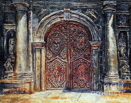 San Agustin Church Entrance by Joey Agbayani