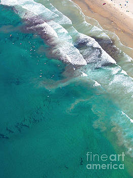 San Diego Coastline Aerial View by Christy Woodrow