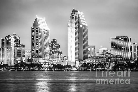 Paul Velgos - San Diego Skyline Black and White Picture