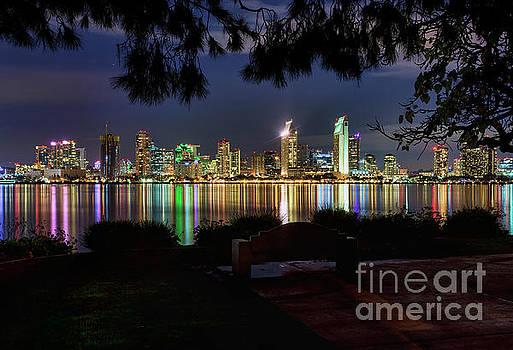 San Diego Skyline by Eddie Yerkish