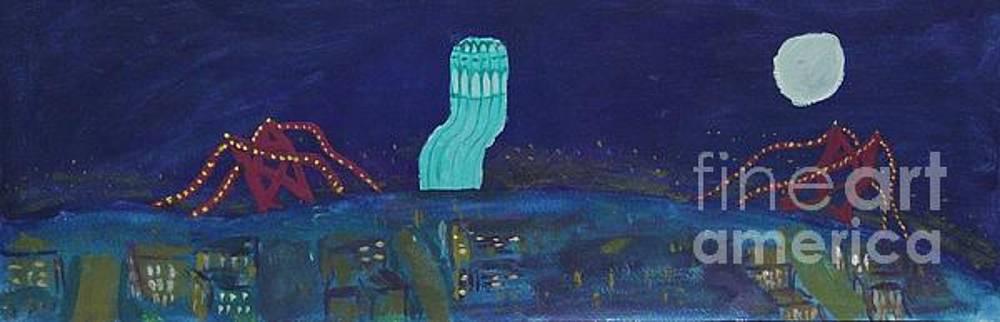 San Francisco Coit Tower Abstract by Marina McLain