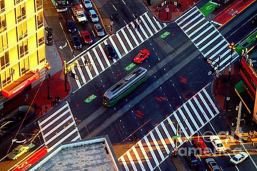 San Francisco Intersection Perspective by Michael Hoard