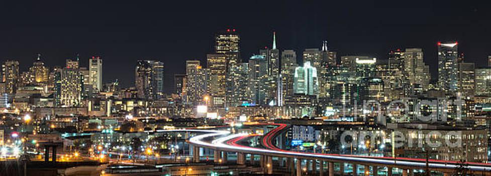 San Francisco night skyline by Mark Chandler