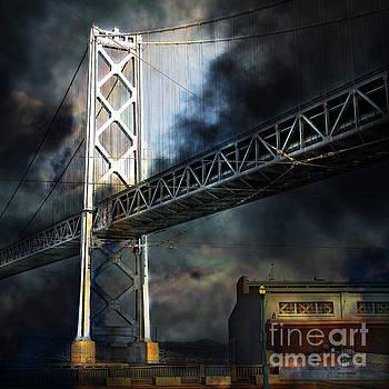 Wingsdomain Art and Photography - San Francisco Nights At The Bay Bridge 7D7748 square