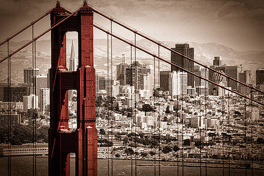 San Francisco through the Bridge by Matt  Trimble