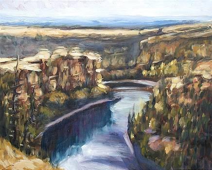 San Frutos Canyon by Elena Sokolova