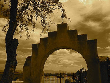 San Xavier - Gate by Chris Koval