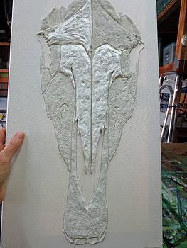 Sand Gesso Art 03 by Debbie Chamberlin