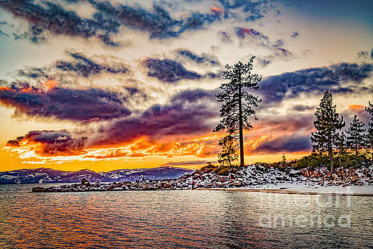 Sand Harbor Sunset by Janis Knight