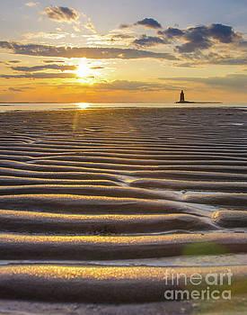 Sandbars and Sunet Landscape Photo by Melissa Fague