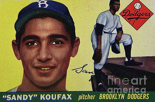 Sandy Koufax-Brooklyn Dodgers by Arnie Goldstein