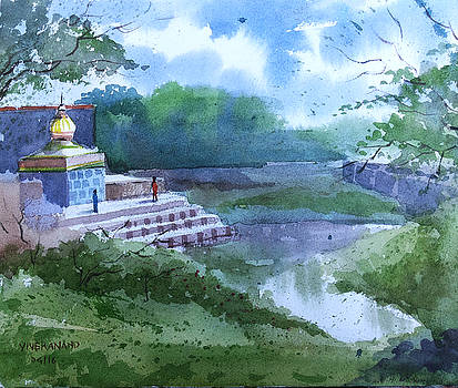 Sangmeshwar Temple by Artist Vivekananad Patil