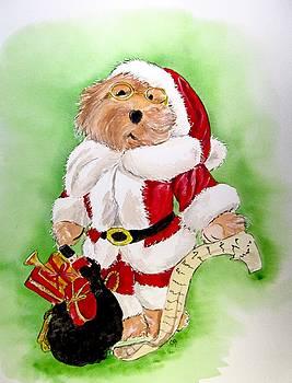 Santa Bear by Carol Blackhurst