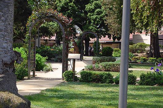 Santa Clara University walkway by Carolyn Donnell