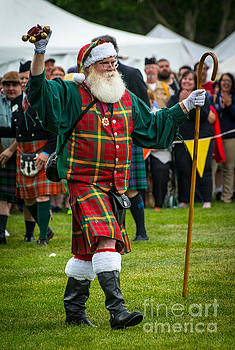 Santa Claus - Scottish Festival and Highland Games by Gary Whitton